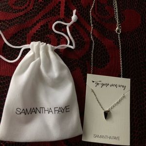 Samantha Faye upside down triangle necklace. NWT.